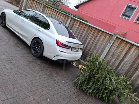 Weihnachtsbaum wegbringen in Style :D